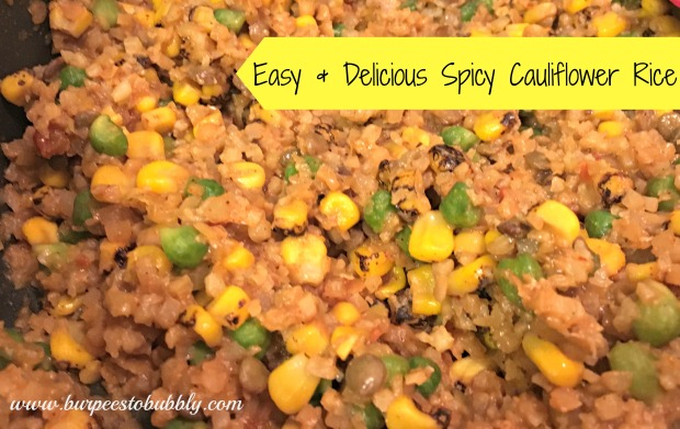 Easy & Delicious Spicy Cauliflower Rice