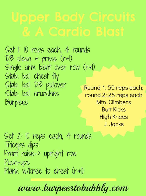 Upper Body Circuits & Cardio Blast