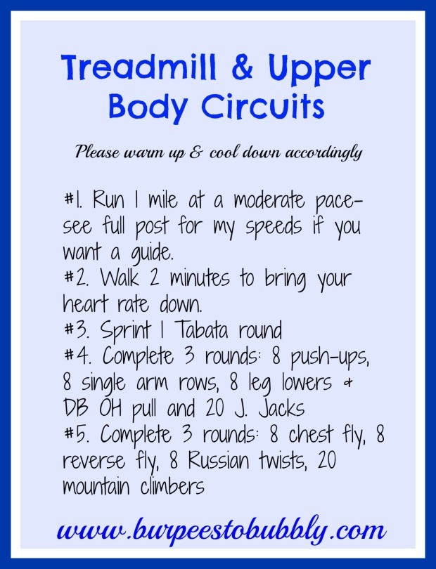 Treadmill & Upper Body Circuits