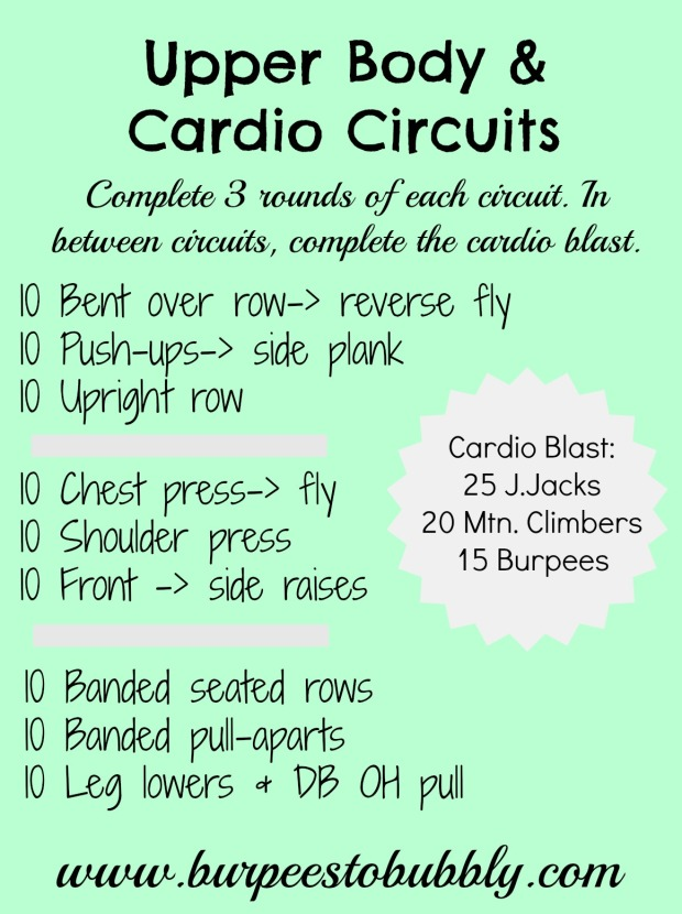Upper Body & Cardio Blast Circuits