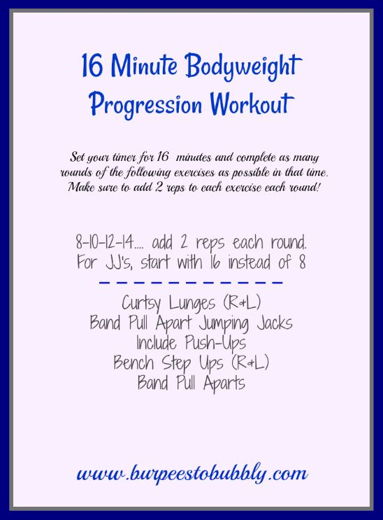 16 Minute Bodyweight Progression Workout
