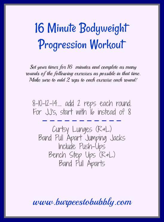 16 Minute Bodyweight Progression Workout