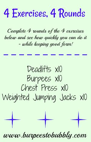 4 exercises, 4 rounds