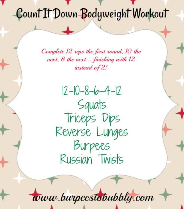 Count It Down Bodyweight Workout