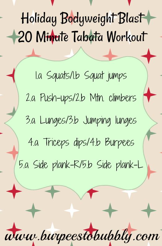 Holiday Bodyweight Blast #4- tabata